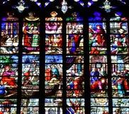 Bernay, Francja - august 11 2016: Sainte Croix kościół Zdjęcia Stock