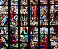 Bernay, Francja - august 11 2016: Sainte Croix kościół Obraz Royalty Free
