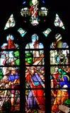 Bernay, Francja - august 11 2016: Sainte Croix kościół Obrazy Stock