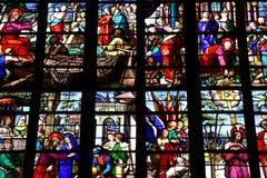 Bernay, Francja - august 11 2016: Sainte Croix kościół fotografia stock