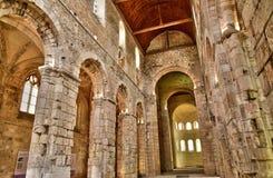 Bernay, Frankreich - 11. August 2016: alte abbatial Kirche Stockbilder