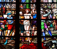 Bernay, Frankreich - 11. August 2016: Kirche Sainte Croix Stockfoto