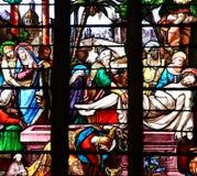 Bernay Frankrike - august 11 2016: Sainte Croix kyrka fotografering för bildbyråer