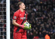 Bernd Leno. Football players pictured during UEFA Champions League Group E game between Tottenham Hotspur and Bayer Leverkusen on November 2, 2016 at Wembley Stock Images