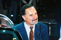 Bernd Pischetsrieder. In the photo shown Bernd Pischetsrieder, who took part in a press conference Volkswagen in September 2001 at the Frankfurt Motor Show Stock Photos