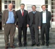 Bernd Wilms, Klaus Wowereit, Ulrich Khuon, Andre Schmitz Lizenzfreies Stockfoto