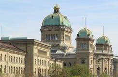 Berne, le palais fédéral de la Suisse Image stock