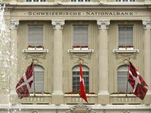 Berne, Suisse 08/02/2009 Fa?ade de National Bank photos libres de droits