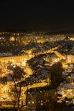 Berne vid natt, Schweiz Europa royaltyfria foton