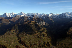 Alpi nel Bernese Oberland Fotografie Stock