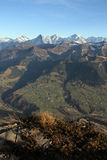 Bernese Oberland in fall. Bernese Oberland from Niesen, Switzerland stock images