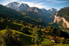 The Bernese Oberland V1. Scenery with mountains in the Bernese Oberland Stock Photo