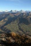 Bernese Oberland in daling Stock Afbeeldingen