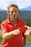 Bernhard Langer. Shakes hands after a PGA Champions Tour rounds at Crosswater, Sunriver, Oregon Royalty Free Stock Photography