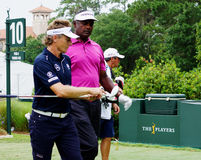 Bernhard Langer and Vijay Singh Stock Photos