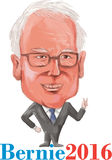 Bernie 2016 Democrat President Caricature. Caricature iIllustration showing Bernard Bernie Sanders, American Senator, elected politician and Democrat Stock Illustration