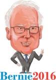 Bernie Demokrata 2016 prezydent karykatura Zdjęcie Stock