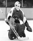 Bernie Parent. Philadelphia Flyers goalie Bernie Parent. (Image taken from a b&w negative Royalty Free Stock Photography