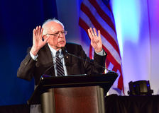 Bernie Sanders - Allen University Royaltyfri Fotografi
