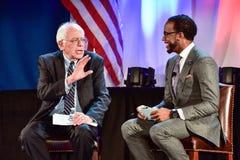 Bernie Sanders - Allen University Photo stock