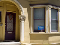 Bernie Sanders banner in window Royalty Free Stock Photo