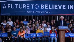 Bernie Sanders campaigning Stock Photo