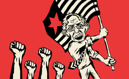 Bernie Sanders catches up. MARCH 9, 2016: Leftist candidate Bernie Sanders wins primary election for United States presidential election for Democratic party in vector illustration