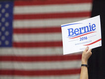 Bernie Sanders dla prezydenta znak Zdjęcie Royalty Free