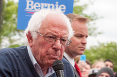Bernie Sanders 01. Elizabethtown, Kentucky – May 14, 2016: Senator Bernie Sanders addresses a crowd at a rally at Panera Bread in Elizabethtown, Kentucky Royalty Free Stock Image