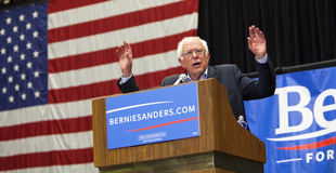 Bernie Sanders för president Fotografering för Bildbyråer