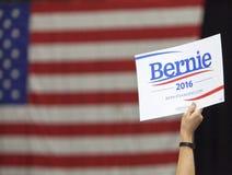 Bernie Sanders für Präsidenten Sign Lizenzfreies Stockfoto