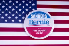 Bernie Sanders 2020 kandyday na prezydenta Zdjęcia Stock