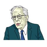 Bernie Sanders Portrait Cartoon Caricature Vector illustratie 24 juli, 2017 Royalty-vrije Stock Afbeelding