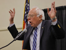 Bernie Sanders, Präsidentschaftswahl 2016 Vereinigter Staaten, Campai lizenzfreie stockfotos