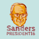 Bernie Sanders President 2016 Royalty-vrije Stock Fotografie