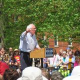 Bernie Sanders a raduno di outdor fotografia stock libera da diritti