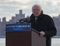 Bernie Sanders - Rally in Greenpoint Royalty Free Stock Photography