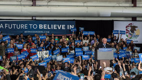Bernie Sanders rally in Illinois stock images