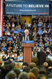 Bernie Sanders rally in Saint Charles, Missouri stock photography