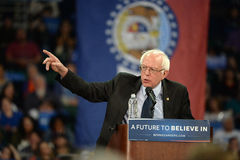 Bernie Sanders rally in Saint Charles, Missouri royalty free stock photo