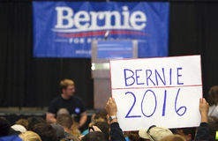 Bernie Sanders Rally Sign Royalty Free Stock Photography
