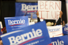 Bernie Sanders Rally Signs Royalty Free Stock Photo