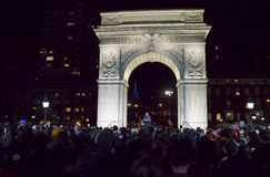 Bernie Sanders Rally - Washington Square Park Stock Afbeelding
