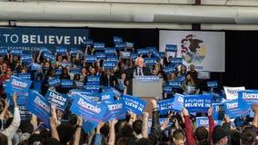 Bernie Sanders-Sammlung in Illinois Stockbild