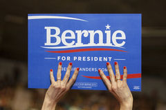 Bernie Sanders Sign Royaltyfria Foton