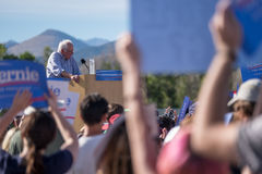 Bernie Sanders. Speaking at a rally in Boulder, Colorado Royalty Free Stock Photos