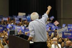 Bernie Sanders Speaks at Presidential Rally, Modesto, CA. MODESTO, CA- JUNE 02, 2016: Democratic Presidential Candidate Bernie Sanders steps off press stand at a Stock Photography