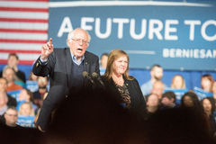 Bernie Sanders Super Tuesday Arkivfoto