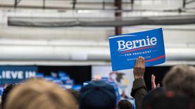 Bernie Sanders supporters in Illinois. Bernie Sanders supporters during A Future to Believe In Rally on March 11th, 2016 at Argo Community High School in Summit royalty free stock images