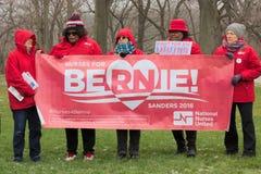 Bernie Sanders Supporters a raduno Fotografia Stock